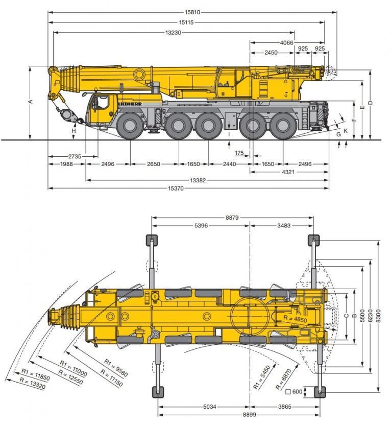 аренда крана Liebherr LTM 1200