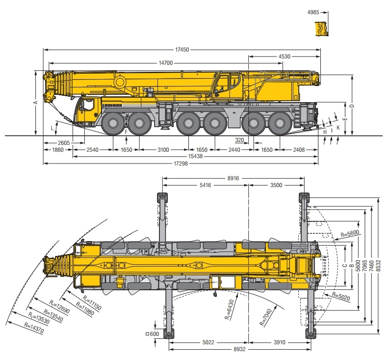 кран Liebherr 300 тонн