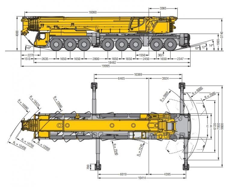 аренда автокрана 450 тонн