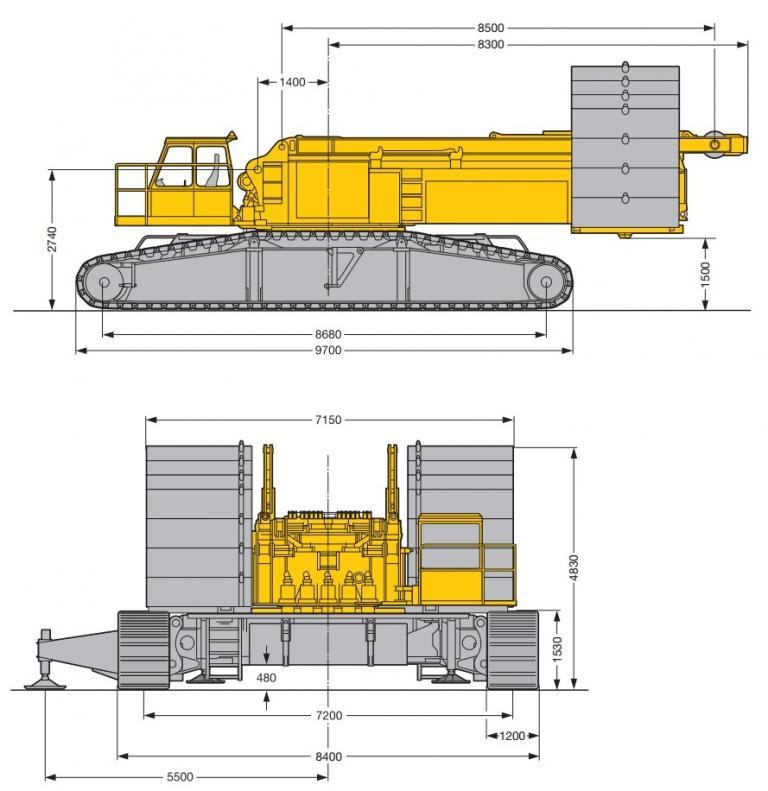 Liebherr LR 1350 характеристики