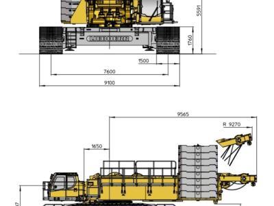 Кран гусеничный 500 тонн