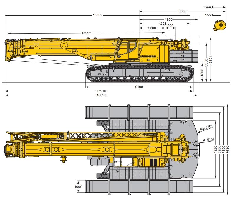 кран 220 тонн характеристики